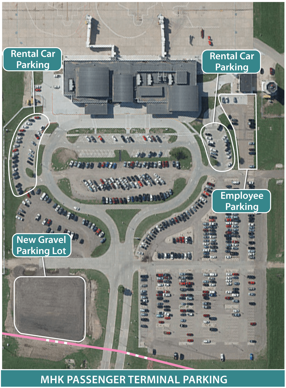 aerial map of parking lot